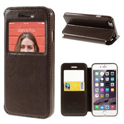 Roar Korea Noble View Leather Flip Cover for iPhone 6 (4.7 inch) - Coffee