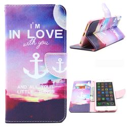 In Love Anchor Leather Wallet Case for iPhone 6 (4.7 inch)
