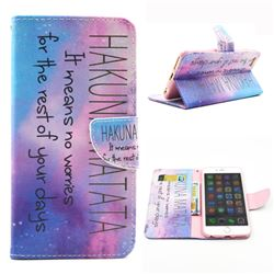 Sky Hakuna Matata Leather Wallet Case for iPhone 6 (4.7 inch)