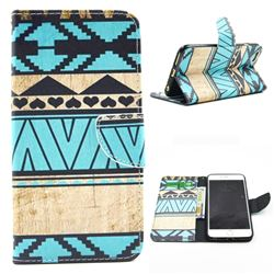Folk Style Leather Wallet Case for iPhone 6 (4.7 inch)