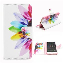 Seven-color Flowers Leather Wallet Case for iPhone 6 (4.7 inch)