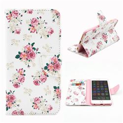 Eastern Roses Leather Wallet Case for iPhone 6 (4.7 inch)