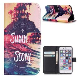 Summer Story Leather Wallet Case for iPhone 6 (4.7 inch)