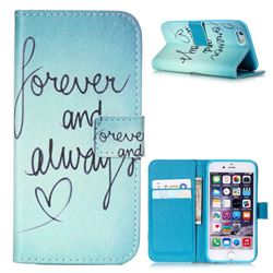 Never And Always Leather Wallet Case for iPhone 6 (4.7 inch)