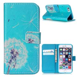 Dandelion Sky Leather Wallet Case for iPhone 6 (4.7 inch)