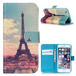 Vintage Eiffel Tower Leather Wallet Case for iPhone 6 (4.7 inch)