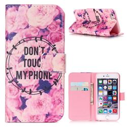 Retro Flowers Leather Wallet Case for iPhone 6 (4.7 inch)