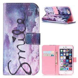 Smile Mood Leather Wallet Case for iPhone 6 (4.7 inch)