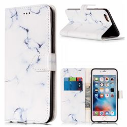 Soft White Marble PU Leather Wallet Case for iPhone 6s 6 (4.7 inch)