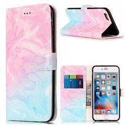 Pink Green Marble PU Leather Wallet Case for iPhone 6s 6 (4.7 inch)