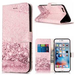Glittering Rose Gold PU Leather Wallet Case for iPhone 6s 6 (4.7 inch)