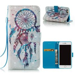 ColorDrops Wind Chimes 3D Painted Leather Wallet Case for iPhone 6s 6 6G(4.7 inch)