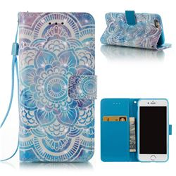 Mandala 3D Painted Leather Wallet Case for iPhone 6s 6 6G(4.7 inch)