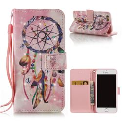 Bead Wind Chimes 3D Painted Leather Wallet Case for iPhone 6s 6 6G(4.7 inch)