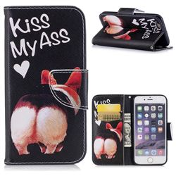 Lovely Pig Ass Leather Wallet Case for iPhone 6s 6 6G(4.7 inch)