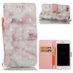 Beige Marble 3D Painted Leather Wallet Case for iPhone 6s 6 6G(4.7 inch)