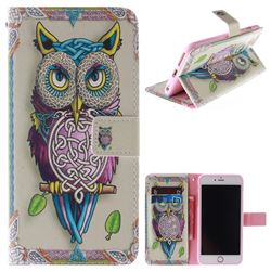 Weave Owl PU Leather Wallet Case for iPhone 6s 6 6G(4.7 inch)