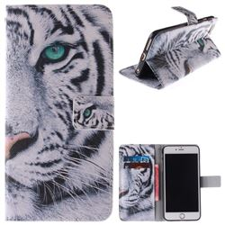 White Tiger PU Leather Wallet Case for iPhone 6s 6 6G(4.7 inch)