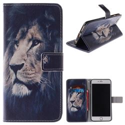 Lion Face PU Leather Wallet Case for iPhone 6s 6 6G(4.7 inch)