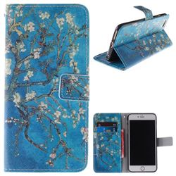 Apricot Tree PU Leather Wallet Case for iPhone 6s 6 6G(4.7 inch)