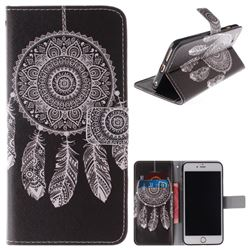 Black Wind Chimes PU Leather Wallet Case for iPhone 6s 6 6G(4.7 inch)