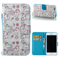 Playing Pony 3D Painted Leather Wallet Case for iPhone 6s 6 6G(4.7 inch)