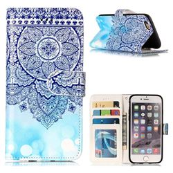 Totem Flower 3D Relief Oil PU Leather Wallet Case for iPhone 6s 6 6G(4.7 inch)