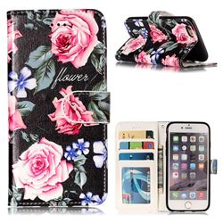 Peony 3D Relief Oil PU Leather Wallet Case for iPhone 6s 6 6G(4.7 inch)