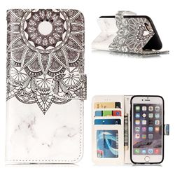 Marble Mandala 3D Relief Oil PU Leather Wallet Case for iPhone 6s 6 6G(4.7 inch)