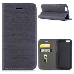 Tree Bark Pattern Automatic suction Leather Wallet Case for iPhone 6s 6 6G(4.7 inch) - Gray
