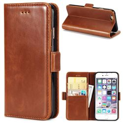 Luxury Crazy Horse PU Leather Wallet Case for iPhone 6s 6 6G(4.7 inch) - Brown