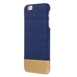 Canvas Cloth Coated Plastic Back Cover for iPhone 6s 6 6G(4.7 inch) - Dark Blue