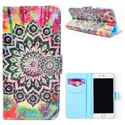 Colorful Mandala Flower Stand Leather Wallet Case for iPhone 6s 6 6G(4.7 inch)