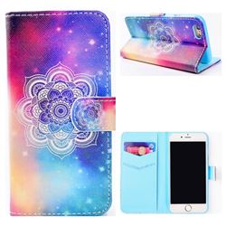 Sky Mandala Flower Stand Leather Wallet Case for iPhone 6s 6 6G(4.7 inch)
