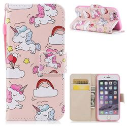 Rainbow Unicorn PU Leather Wallet Case for iPhone 6s 6 6G(4.7 inch)