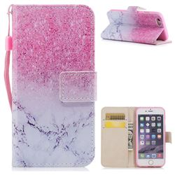 Marble Powder PU Leather Wallet Case for iPhone 6s 6 6G(4.7 inch)