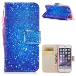 Blue Powder PU Leather Wallet Case for iPhone 6s 6 6G(4.7 inch)