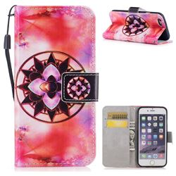 Red Mandala PU Leather Wallet Case for iPhone 6s 6 6G(4.7 inch)