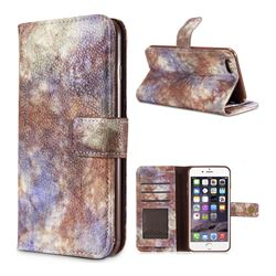 Luxury Retro Forest Series Leather Wallet Case for iPhone 6s 6 6G(4.7 inch) - White