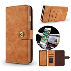 Luxury Vintage Split Separated Leather Wallet Case for iPhone 6s 6 6G(4.7 inch) - Khaki