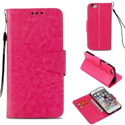 Retro Phantom Smooth PU Leather Wallet Holster Case for iPhone 6s 6 6G(4.7 inch) - Rose