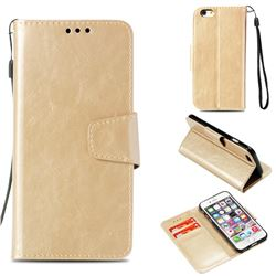 Retro Phantom Smooth PU Leather Wallet Holster Case for iPhone 6s 6 6G(4.7 inch) - Champagne