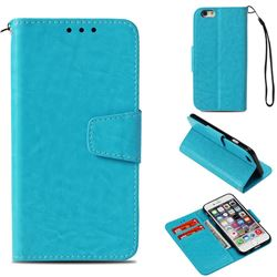 Retro Phantom Smooth PU Leather Wallet Holster Case for iPhone 6s 6 6G(4.7 inch) - Sky Blue