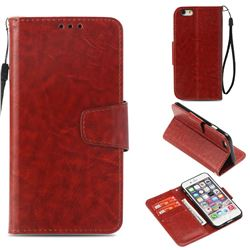 Retro Phantom Smooth PU Leather Wallet Holster Case for iPhone 6s 6 6G(4.7 inch) - Brown