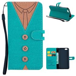 Mens Button Clothing Style Leather Wallet Phone Case for iPhone 6s 6 6G(4.7 inch) - Green