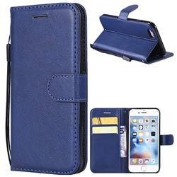 Retro Greek Classic Smooth PU Leather Wallet Phone Case for iPhone 6s 6 6G(4.7 inch) - Blue