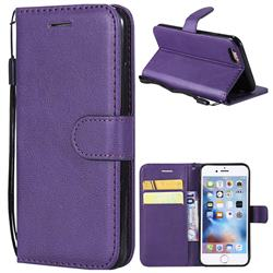 Retro Greek Classic Smooth PU Leather Wallet Phone Case for iPhone 6s 6 6G(4.7 inch) - Purple