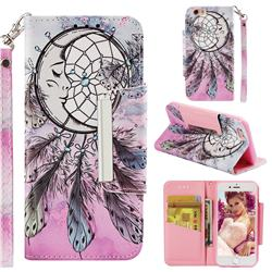 Angel Monternet Big Metal Buckle PU Leather Wallet Phone Case for iPhone 6s 6 6G(4.7 inch)