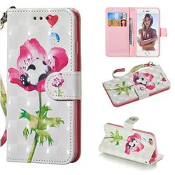Flower Panda 3D Painted Leather Wallet Phone Case for iPhone 6s 6 6G(4.7 inch)