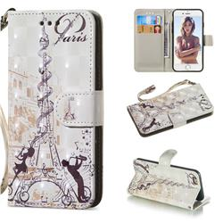 Tower Couple 3D Painted Leather Wallet Phone Case for iPhone 6s 6 6G(4.7 inch)